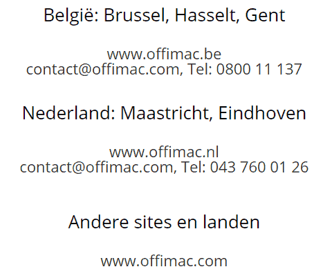 bizcentral nl contact NL